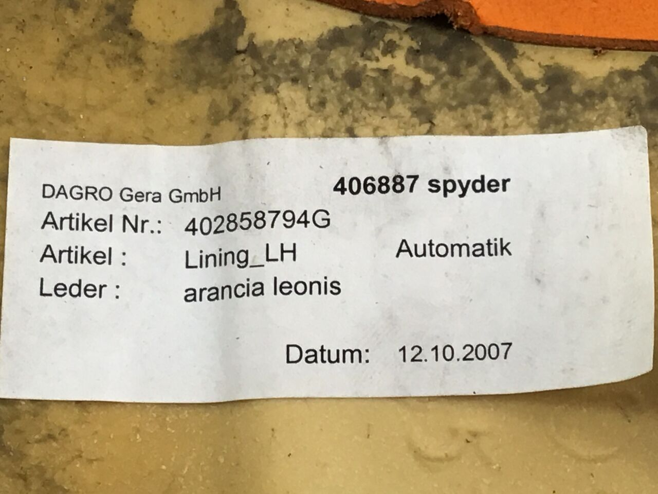 Abdeckung LAMBORGHINI Gallardo Spyder (140) 5.0 4x4  382 kW  520 PS (08.2005-> )